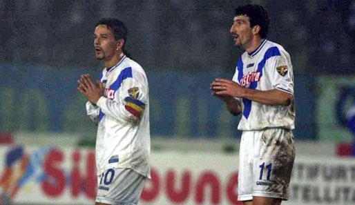 Dario Hubner e Roberto Baggio Brescia