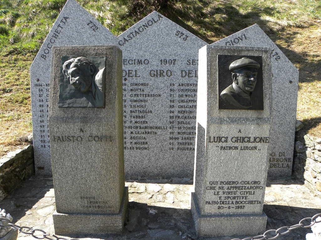 In cima al Passo della Bocchetta si trova una stele che riporta l'albo d'oro del Giro dell'Appennino insieme al ricordo di Fausto Coppi e dell'organizzatore Luigin Ghiglione