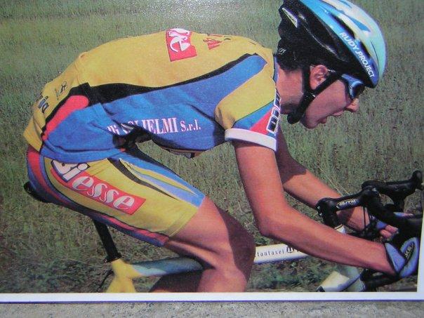 Gabriele in fuga verso la sua prima vittoria.