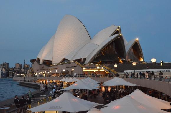 L'Opera House all'ora dell'aperitivo.
