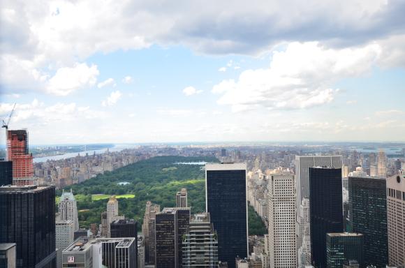 Central Park visto dall'alto.
